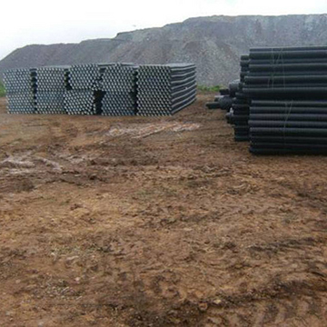 Drainage tubes for El Gallo Mine expansion arrive at site.