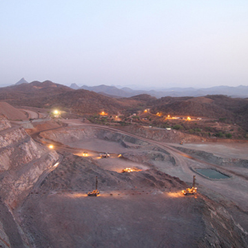 El Gallo Mine in Sinaloa, Mexico. Overlooking the Samanegio open pit to the southwest