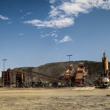 Crushers at the El Gallo Mine in Sinaloa, Mexico. The crushers are being expanded from 3,000 to 4,500 tonnes per day. Gold production is expected to ramp-up to 75,000 ounces per year by 2015.