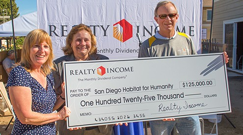 Realty Income Habitat for Humanity Check Presentation