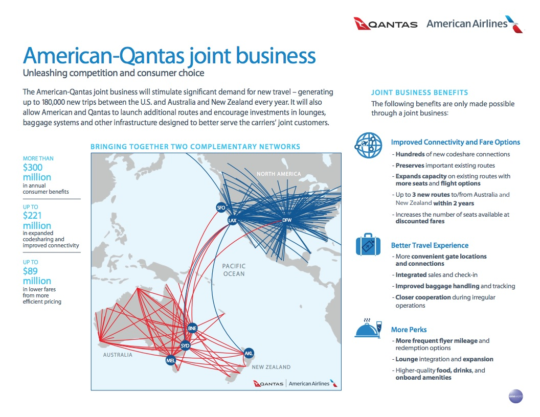 Newsroom American And Qantas File Application To Form Joint
