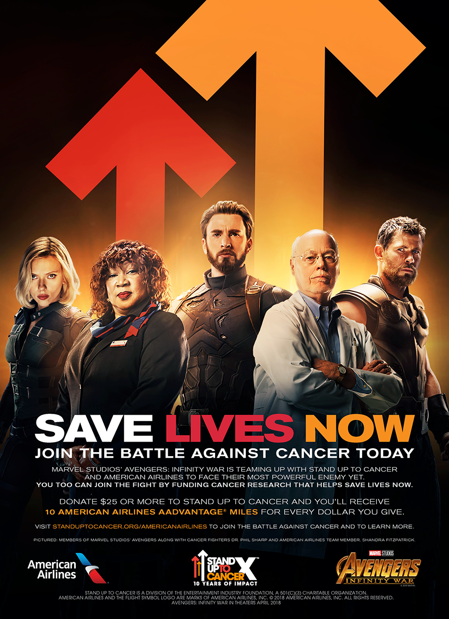 Newsroom Stand Up To Cancer American Airlines Amp Marvel