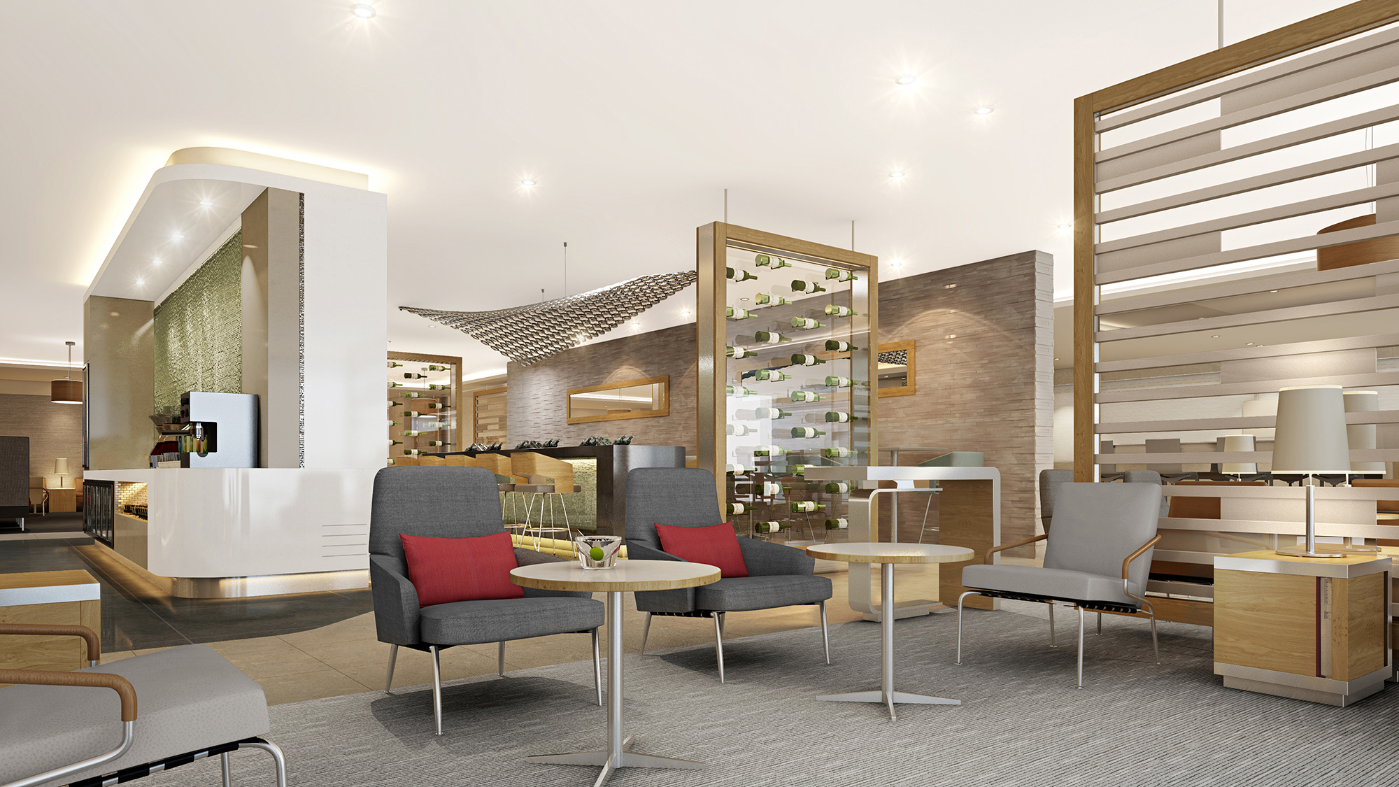 Newsroom american airlines re imagines lounge experience for Lounge pictures designs