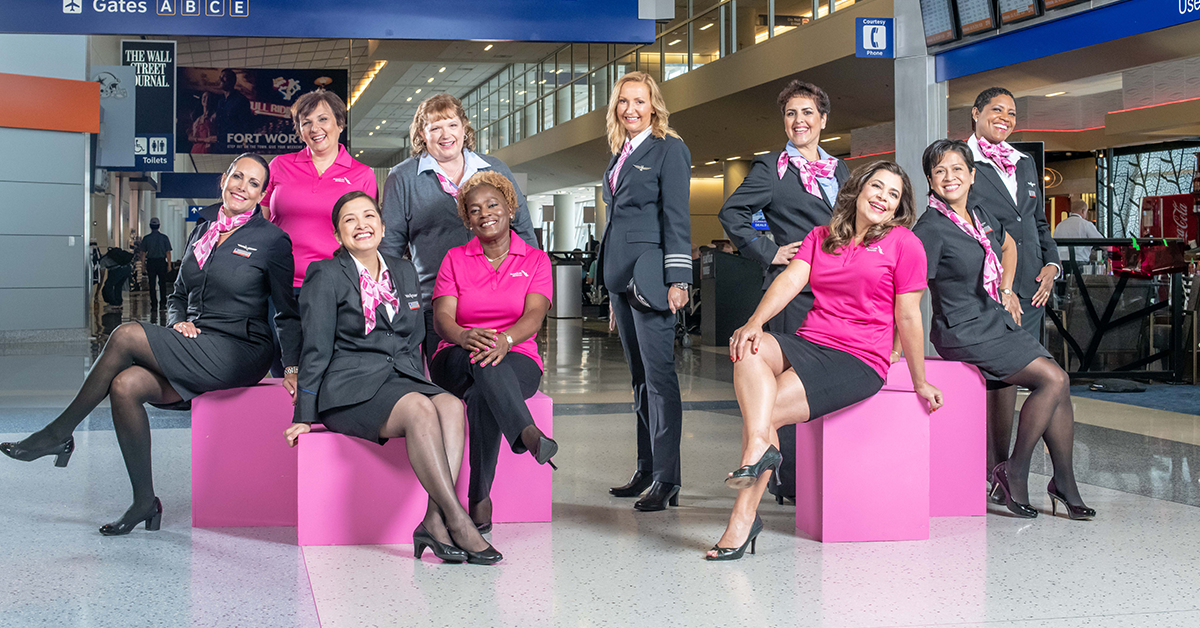 Newsroom American Airlines Goes Pink In October For