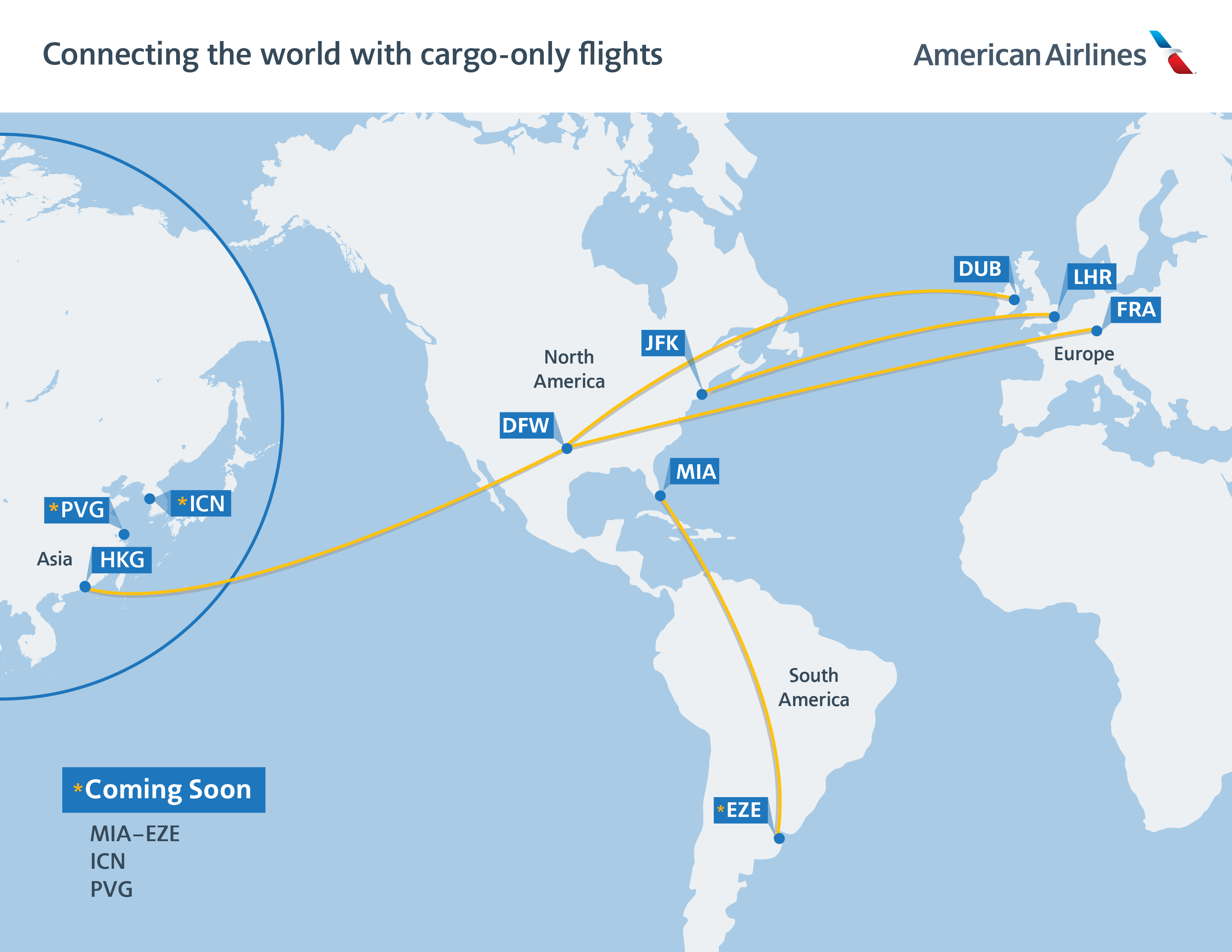 American Airlines Flight Map Us Newsroom   American Airlines Transports Critical Supplies to US