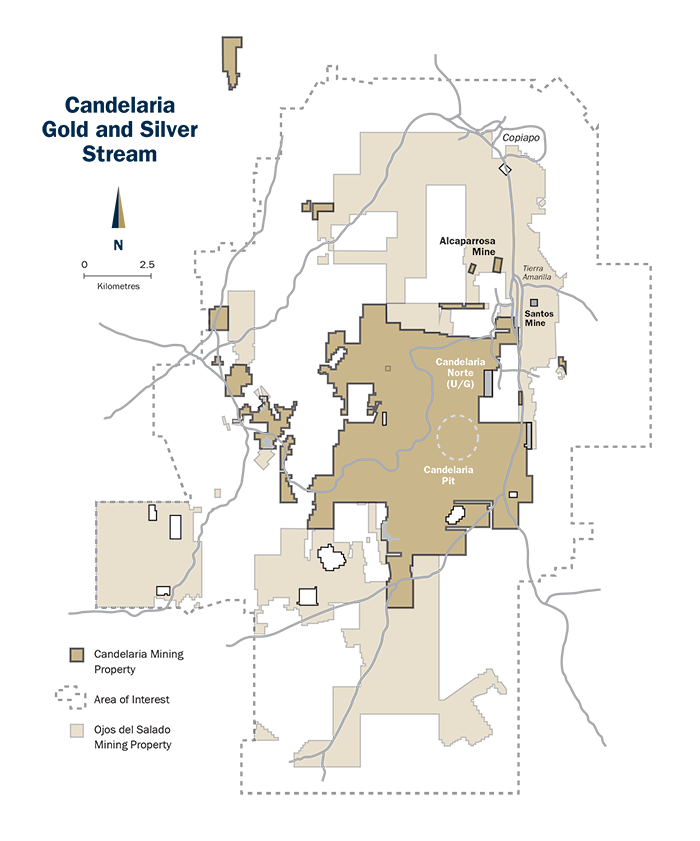 FrancoNevada Corporation Our Assets Asset List Latin - Candelaria map