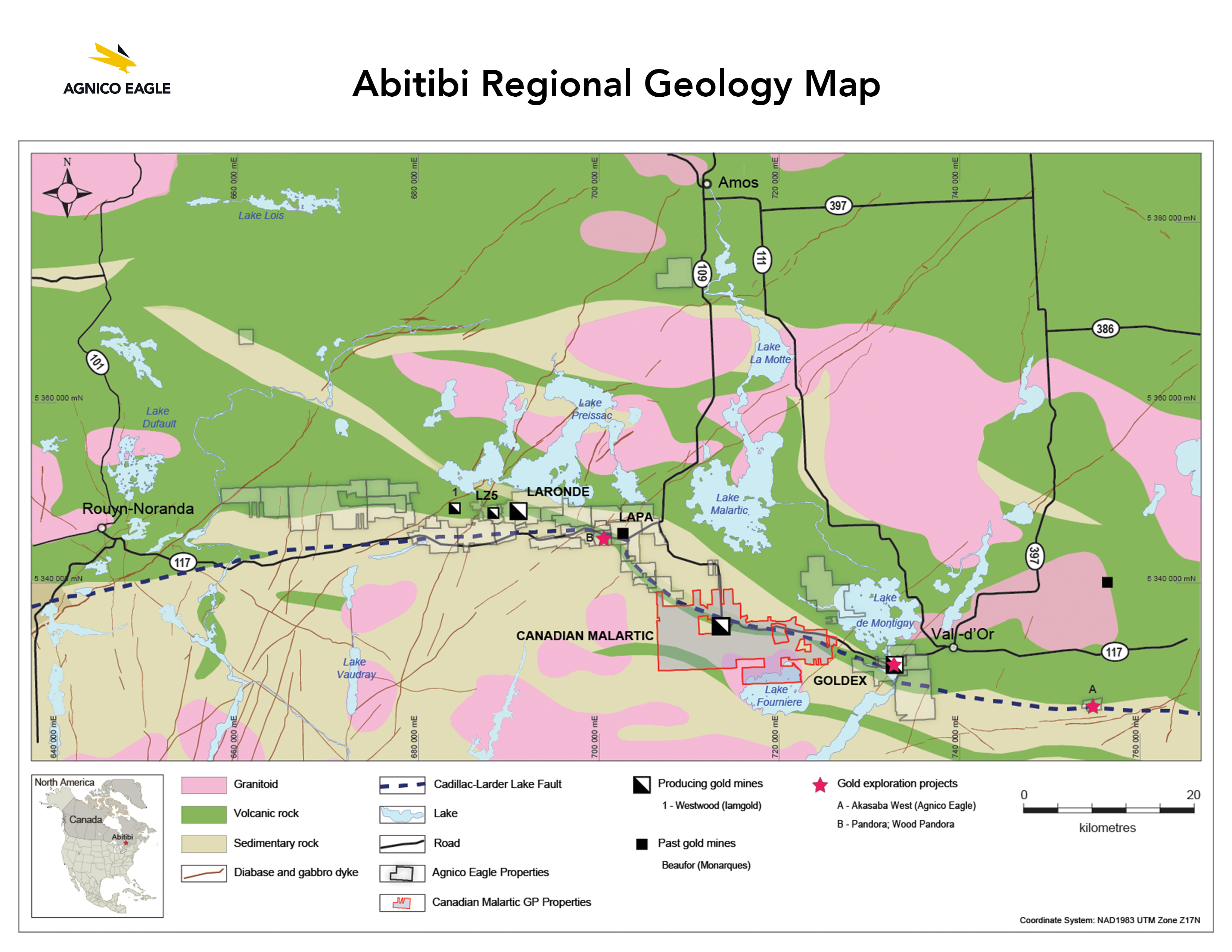 Map Of Canada 60th Parallel.Agnico Eagle Mines Limited Operations Development Projects