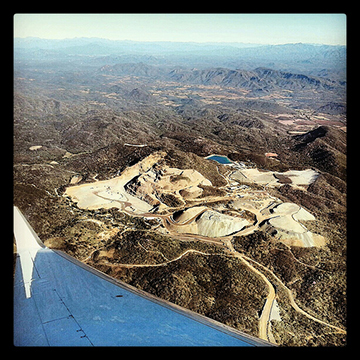 Flying over El Gallo