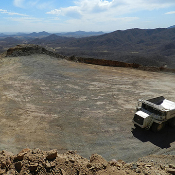 Looking southwest from the Sagrado open pit