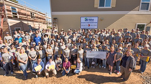 2016 Realty Income Habitat for Humanity Corporate Responsibility