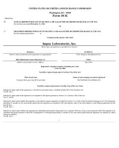 Impax laboratories inc financial reports annual reports 2017 proxy statement pdf 897 kb pdf format download opens in new window 2016 annual report pdf 121 mb pdf format download opens in new window sciox Gallery