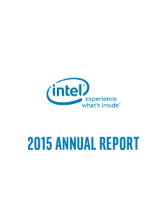 Intel corporation investor relations financials filings 2015 annual report and form 10 k sciox Gallery