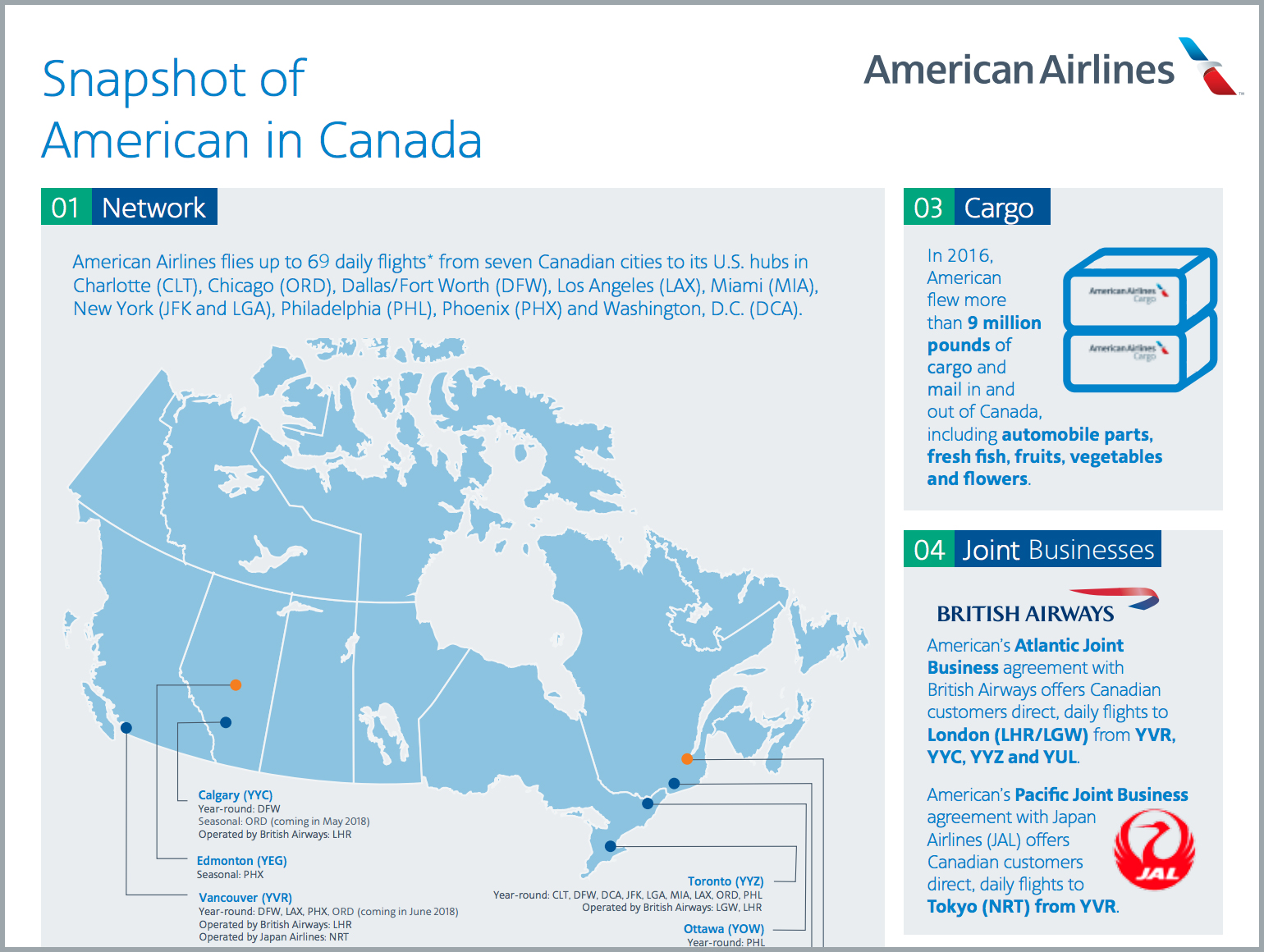 Newsroom - American Airlines Strengthens Service to Canada in 2018 - American  Airlines Group, Inc.
