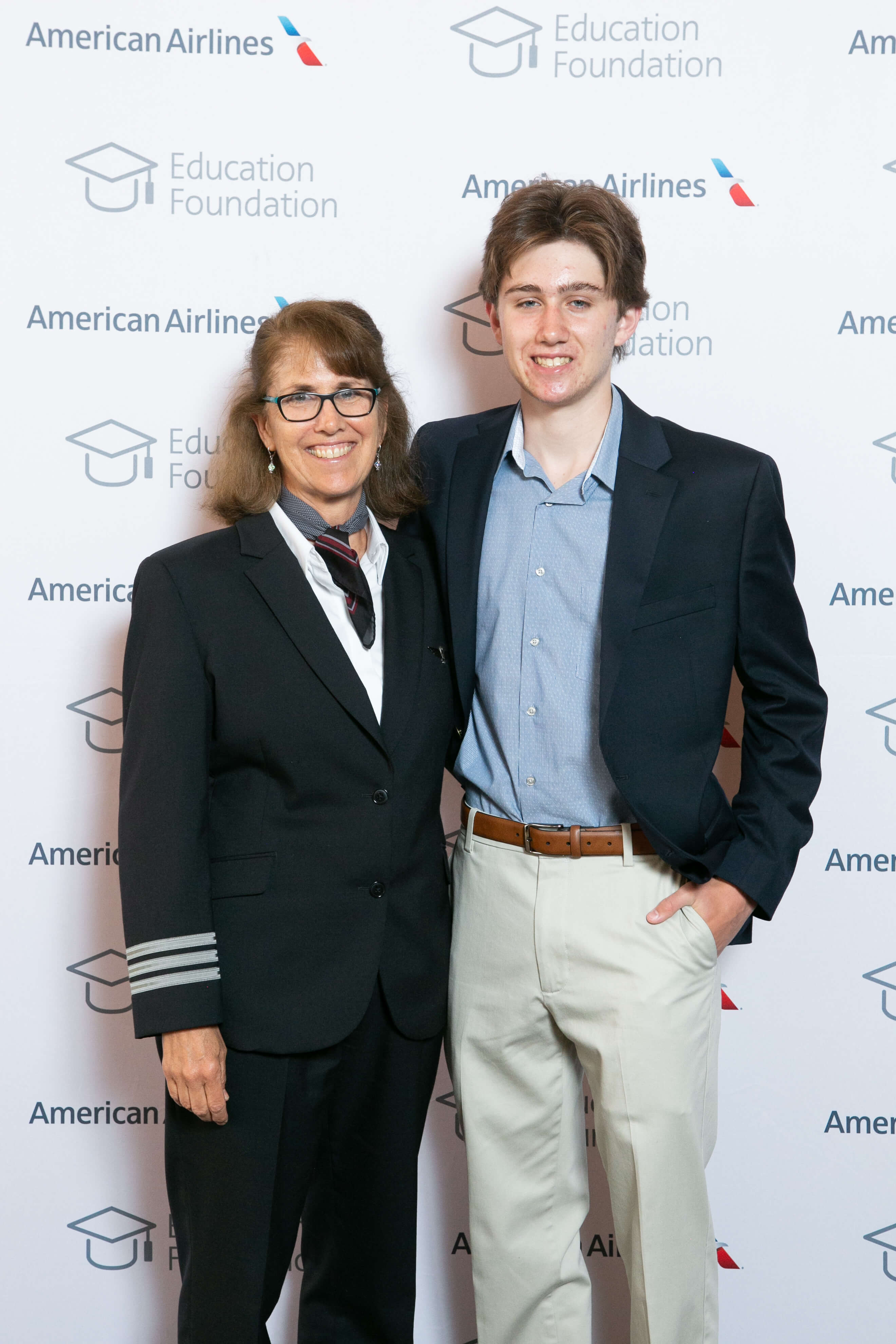 Nora Ellis and her son Sam at this year's Education Foundation Scholarship Reception