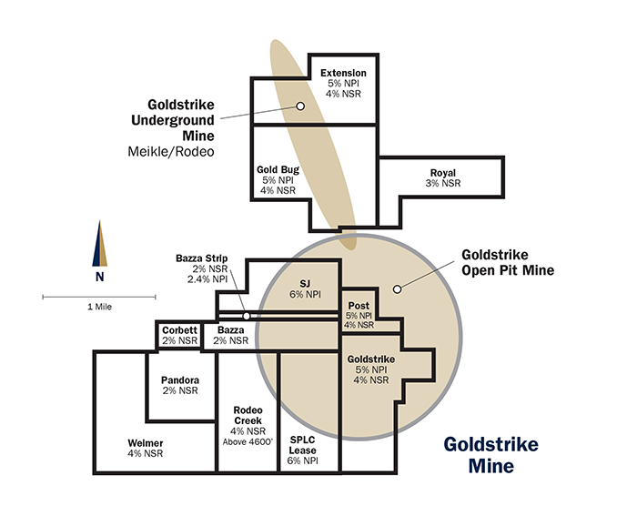 Goldstrike map