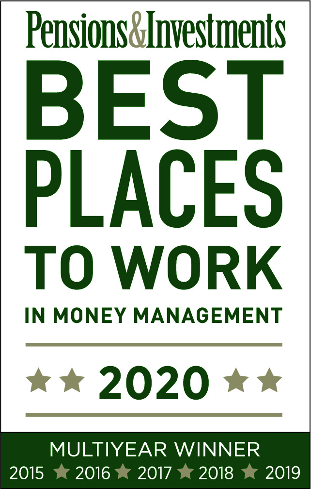 Pensions & Investments Best Places to Work in Money Management logo