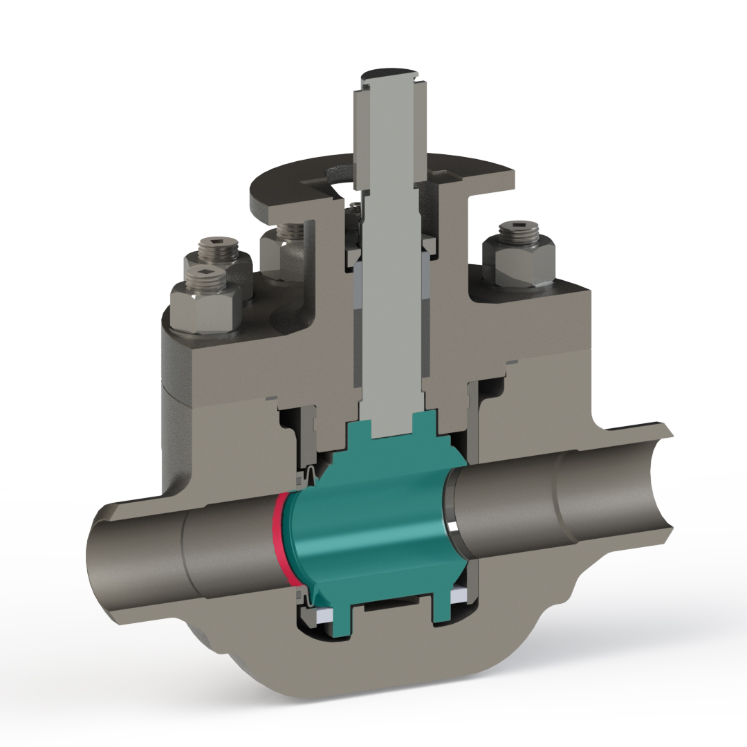 ball cartridge valve cross section