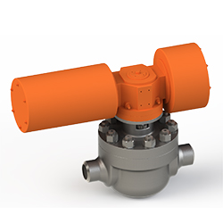 a cartridge ball valve with AOV