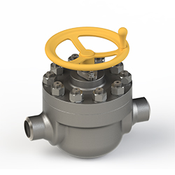 a cartridge ball valve with handwheel