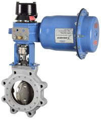 Jamesbury Metso High Performance Butterfly Valve with Actuator